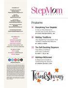 StepMom Magazine November 2017 TOC1