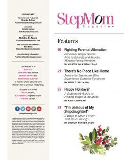StepMom Magazine December 2017 TOC1
